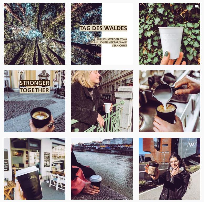 Auf diesem Bild sieht man den myCoffeeCup Instagram-Feed.